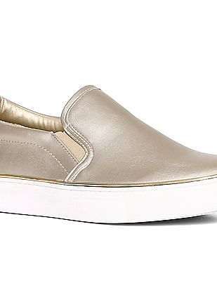 Stride Gold Metallic Accent Slip On Shoes