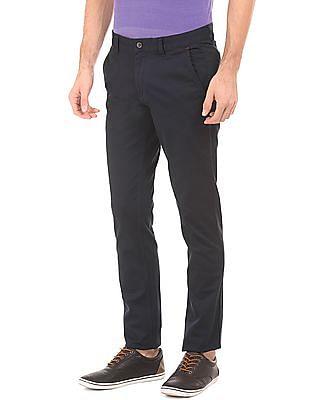 Arrow Sports Printed Slim Fit Trousers