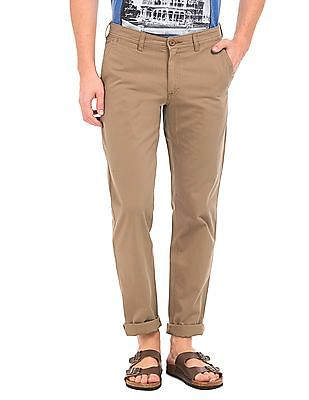Ruggers Solid Slim Fit Trousers