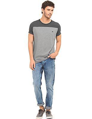 Aeropostale Colour Block Regular Fit T-Shirt