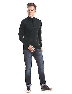 Arrow Sports Regular Fit Zip-Up Sweater