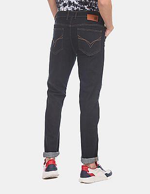 Flying Machine Men Blue Jackson Skinny Fit Dark Wash Jeans