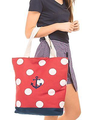 Cherokee Polka Dot Canvas Tote Bag