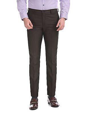 Excalibur Super Slim Fit Patterned Trousers