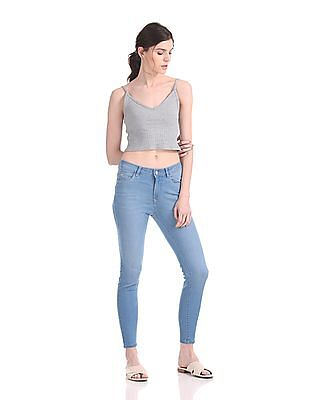 Flying Machine Women Pushup Super Skinny Fit Jeans
