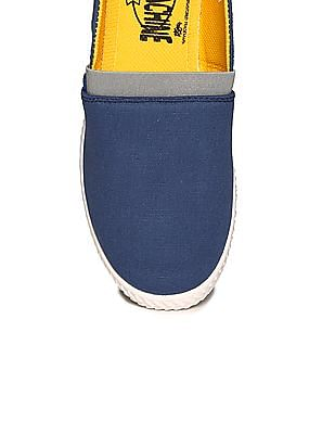 Flying Machine Panelled Canvas Slip On Shoes