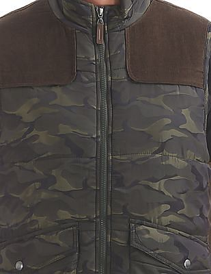 U.S. Polo Assn. Denim Co. Camouflage Print Quilted Gilet