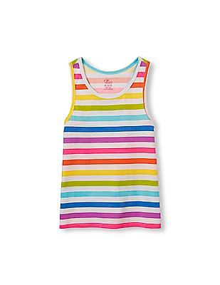 The Children's Place Girls Matchables Sleeveless Printed Racer-Back Tank Top