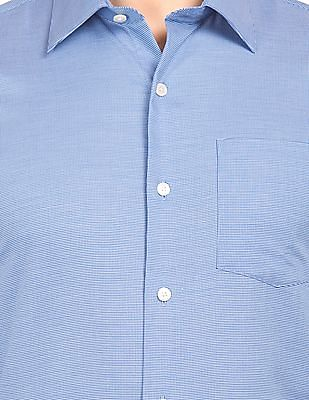 Arrow Patterned French Placket Shirt