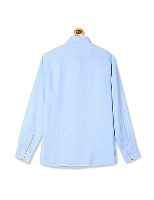 Nautica Long Sleeve Solid Linen Shirt