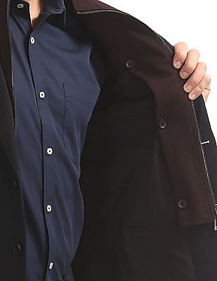 Arvind Slim Fit Single Breasted Blazer