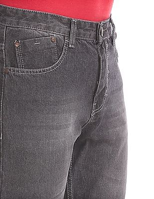 Newport Straight Fit Stone Washed Jeans