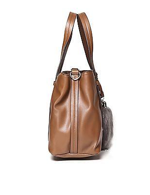 U.S. Polo Assn. Women Metallic Trim Structured Hand Bag
