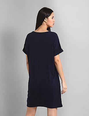 GAP Blue Brand Logo T-Shirt Dress