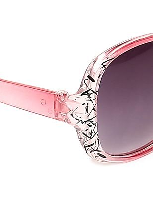 SUGR Printed Oversized Frame Sunglasses