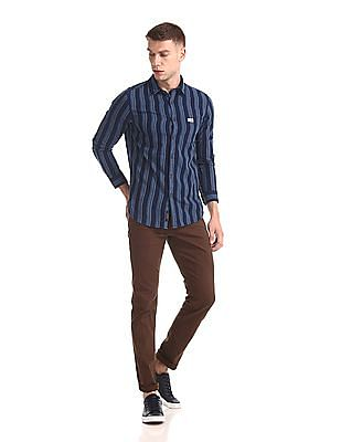 U.S. Polo Assn. Denim Co. Slim Fit Vertical Stripe Shirt