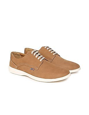 Arrow Sports Round Toe Leather Sneakers
