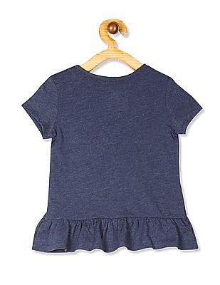 The Children's Place Baby And Toddler Girl Short Sleeve Embellished Peplum Top