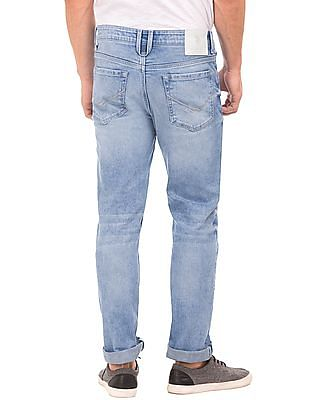 U.S. Polo Assn. Denim Co. Slim Fit Whiskered Jeans