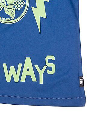 FM Boys Boys Long Sleeve Printed T-Shirt