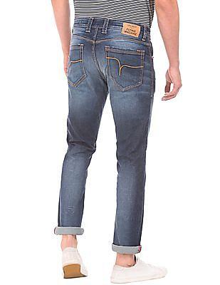 Flying Machine Dark Wash Skinny Jeans