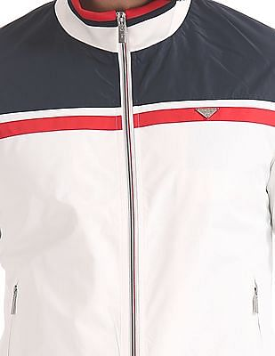 Izod Colour Block Bomber Jacket