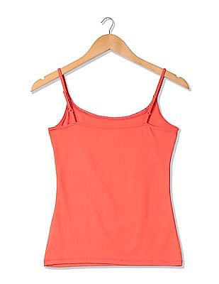 U.S. Polo Assn. Women Solid Lace Trim Camisole