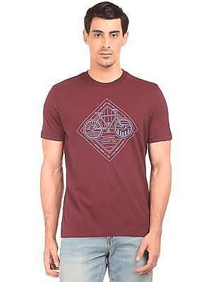 Aeropostale Contrast Print Round Neck T-Shirt