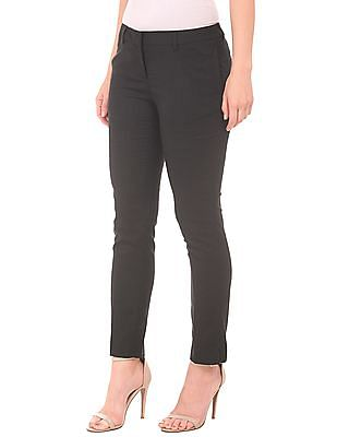 Arrow Woman Textured Regular Fit Trousers