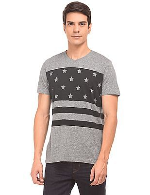 U.S. Polo Assn. Denim Co. V-Neck Printed T-Shirt