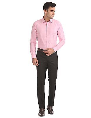 Arrow Slim Fit Solid Trousers