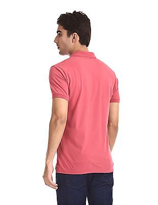Aeropostale Short Sleeve Appliqued Polo Shirt