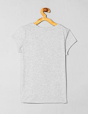 GAP Girls Grey Graphic Print T-Shirt