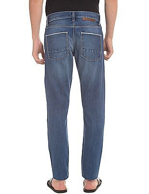 True Blue Slim Fit Washed Jeans
