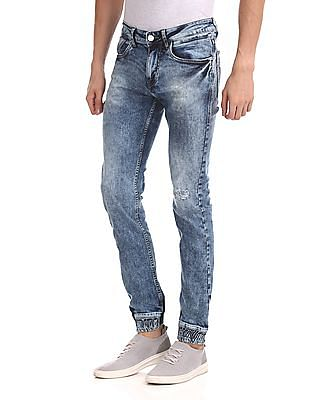 Flying Machine Slim Fit Stone Washed Jogger Jeans
