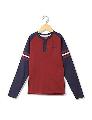 Cherokee Boys Solid Henley T-Shirt