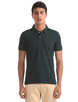 Arrow Sports Regular Fit Chevron Print Polo Shirt