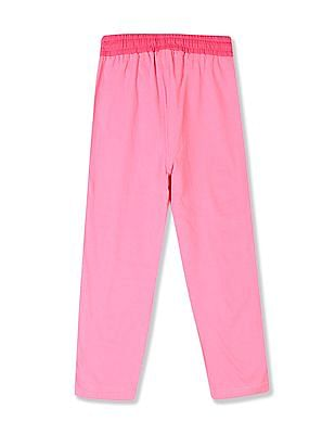 Day 2 Day Girls Mid Rise Solid Track Pants