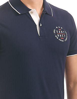Gant Gant NHCT Pique Short Sleeve Rugger Polo