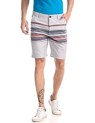Aeropostale Regular Fit Striped Shorts