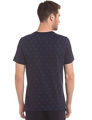 True Blue Coin Print Crew Neck T-Shirt
