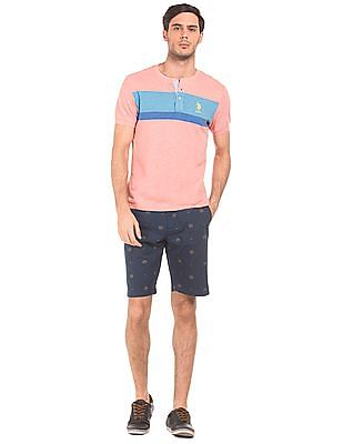 U.S. Polo Assn. Slim Fit Striped Chest Henley T-Shirt