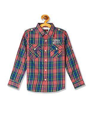 U.S. Polo Assn. Kids Boys Brushed Cotton Check Shirt