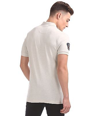 U.S. Polo Assn. Denim Co. Muscle Fit Appliqued Front Polo Shirt