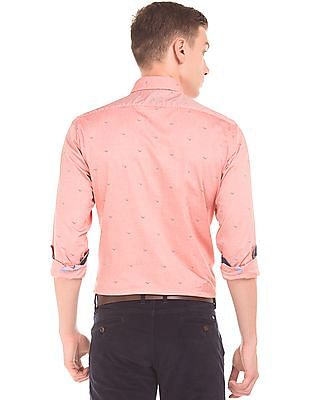 Arrow Sports Bird Print Slim Fit Shirt
