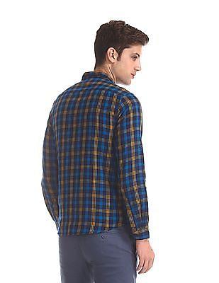 Cherokee Blue Spread Collar Check Shirt