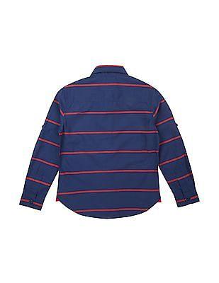 U.S. Polo Assn. Kids Boys Striped Button Down Shirt