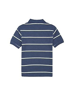 Nautica Kids Boys Short Sleeve Striped Polo Shirt