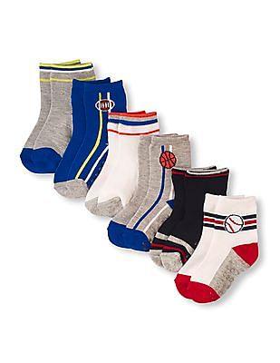 The Children's Place Boys Sport Midi Length Socks - Pack of 6
