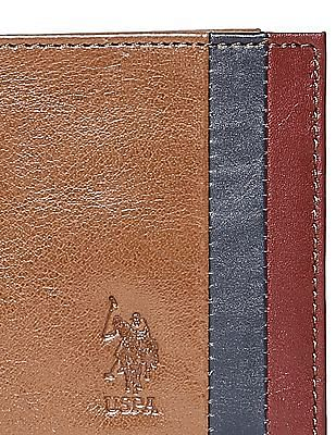 U.S. Polo Assn. Colour Blocked Leather Wallet